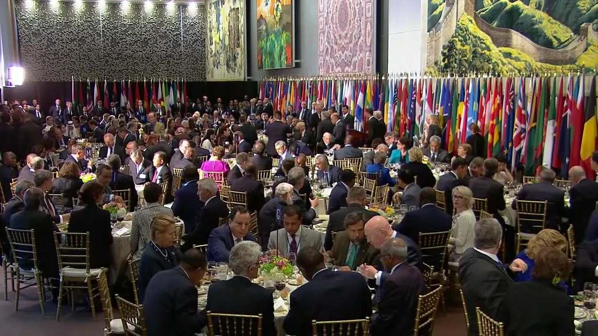 ONU: Trump brinda en honor a la ONU tras su discurso en la Asamblea General