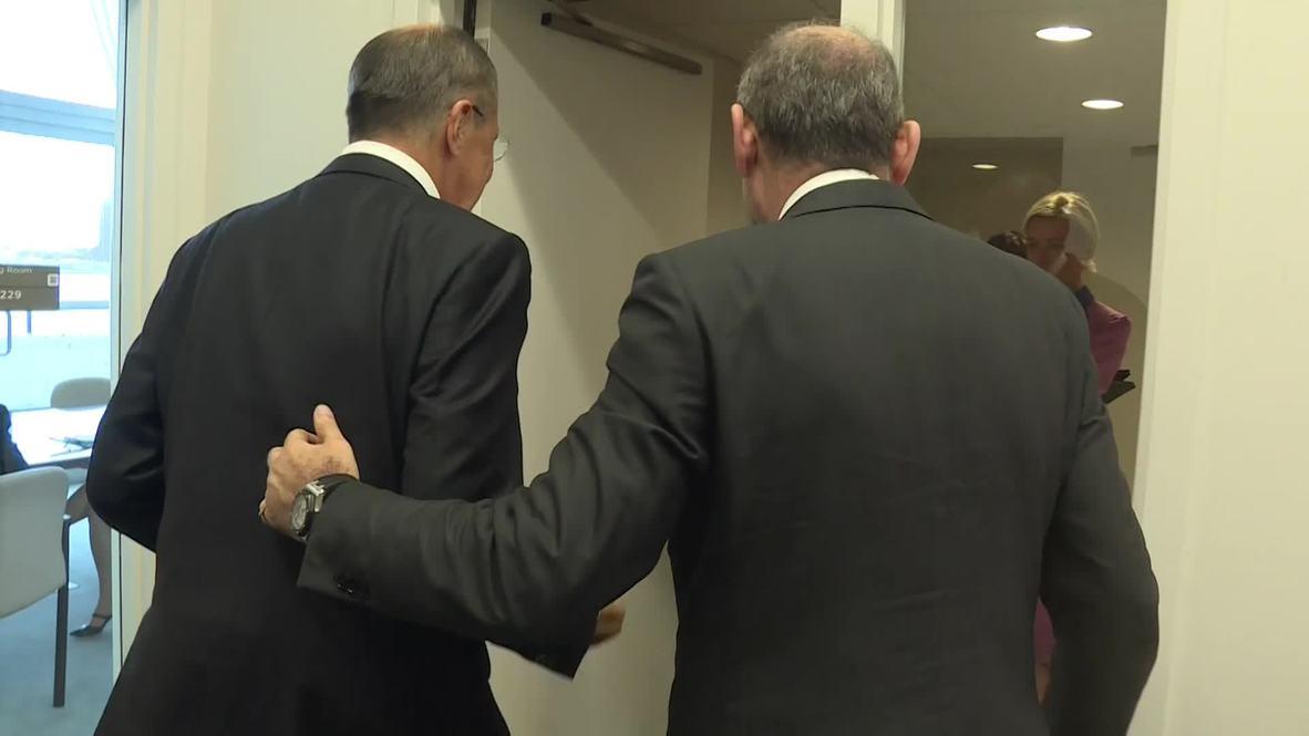 UN: Lavrov meets Jordanian FM Ayman Safadi