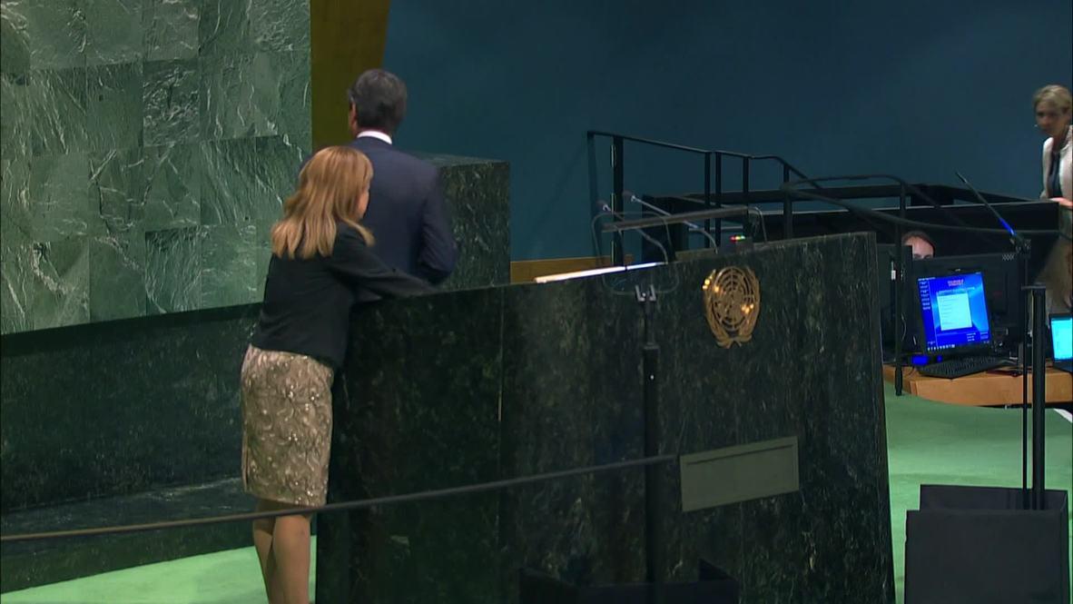 ONU: El primer ministro italiano urge a la comunidad internacional a solucionar la crisis migratoria a nivel mundial