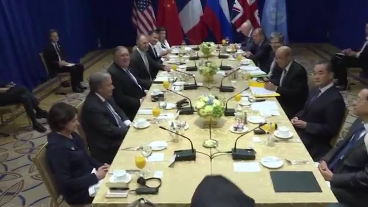 ONU: Lavrov asiste al desayuno ministerial