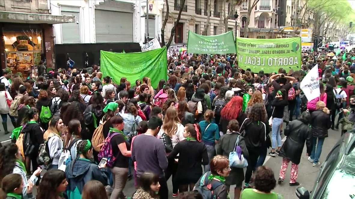Argentina: Primera gran marcha por el aborto desde que el Senado rechazó el proyecto de ley