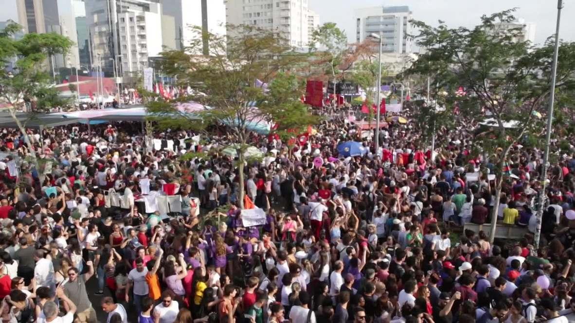 Brazil: Anti-Bolsonaro protest sweeps through Sao Paulo