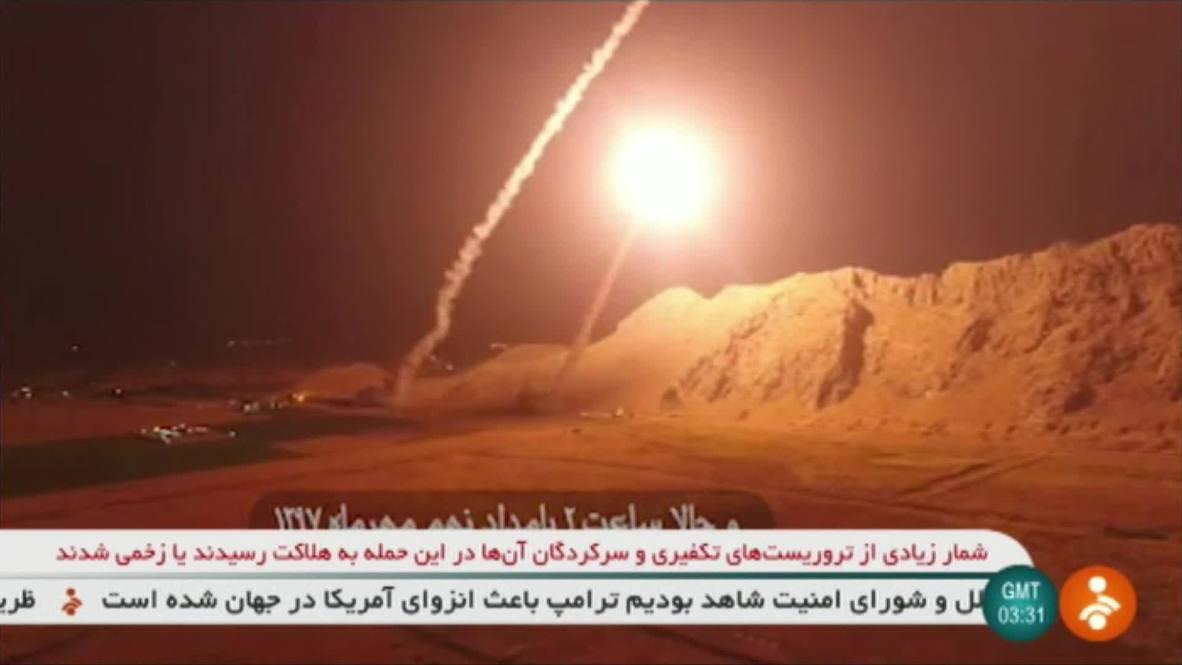 Irán: Ejército iraní lanza un ataque con misiles en Siria