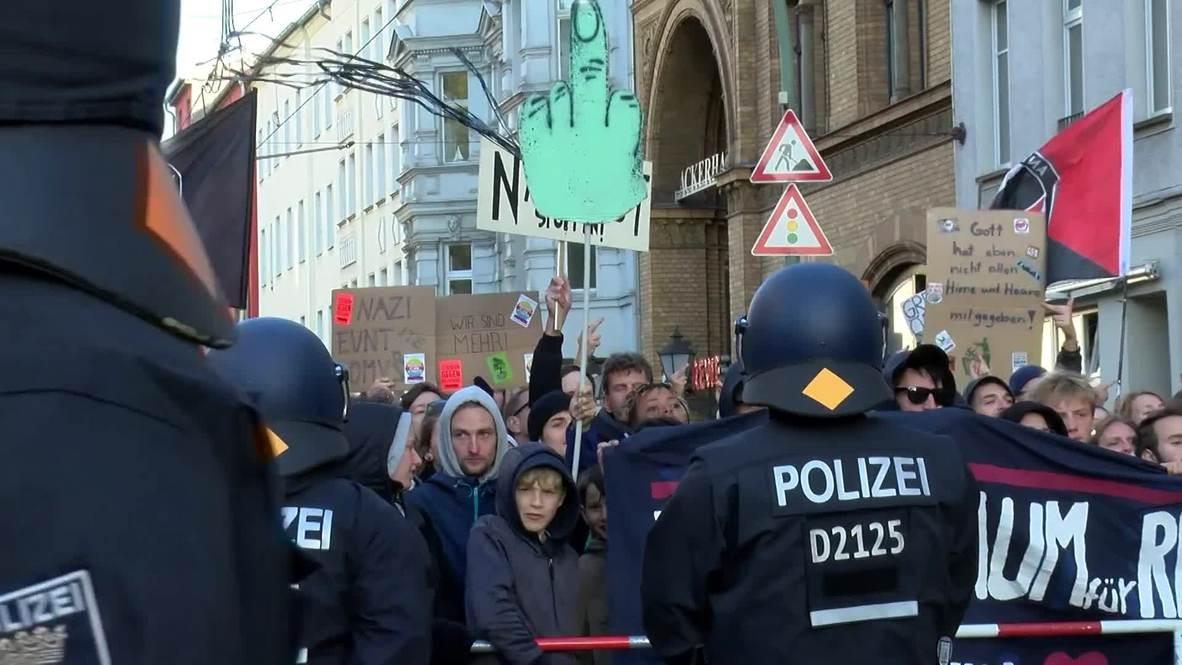 Alemania: Manifestantes nacionalistas marchan en Berlín
