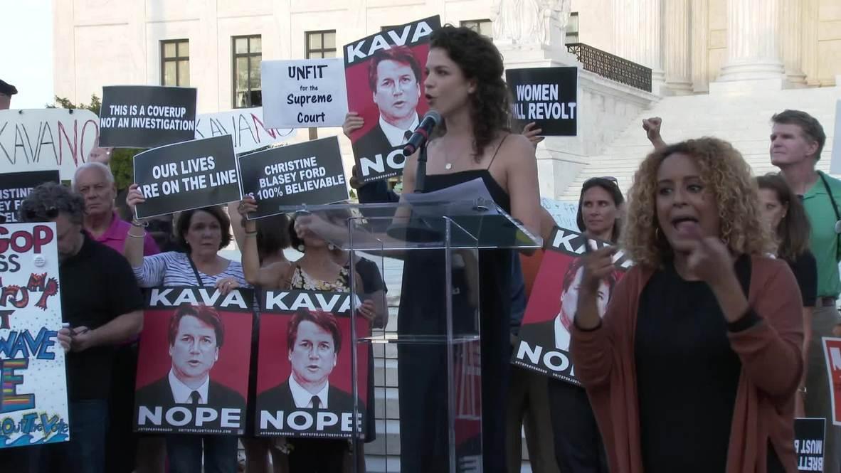 USA: Democratic leaders attend anti-Kavanaugh rally outside Supreme Court