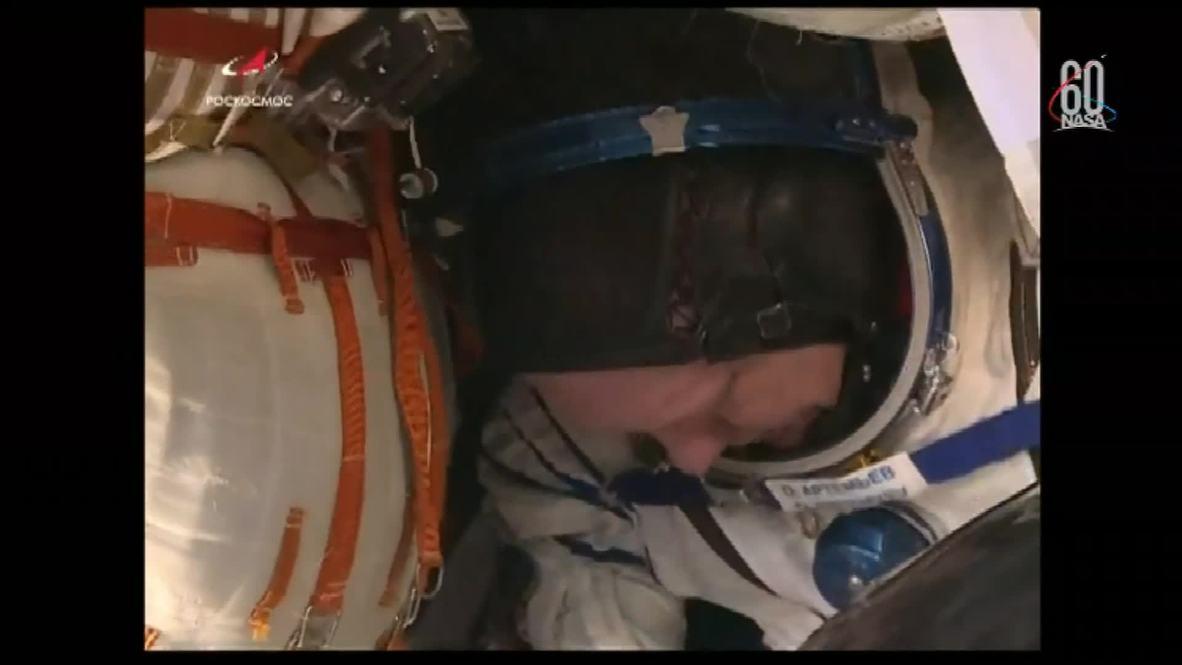 Kazajistán: La Expedición 56 aterriza en la Tierra tras pasar 197 días en la Estación Espacial Internacional