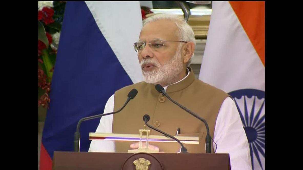 India: Putin praises military cooperation with India