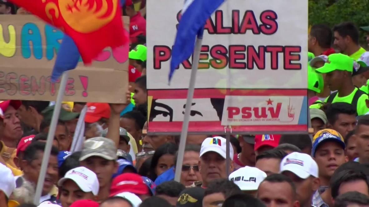 Venezuela: Thousands of Maduro fans march on downtown Caracas