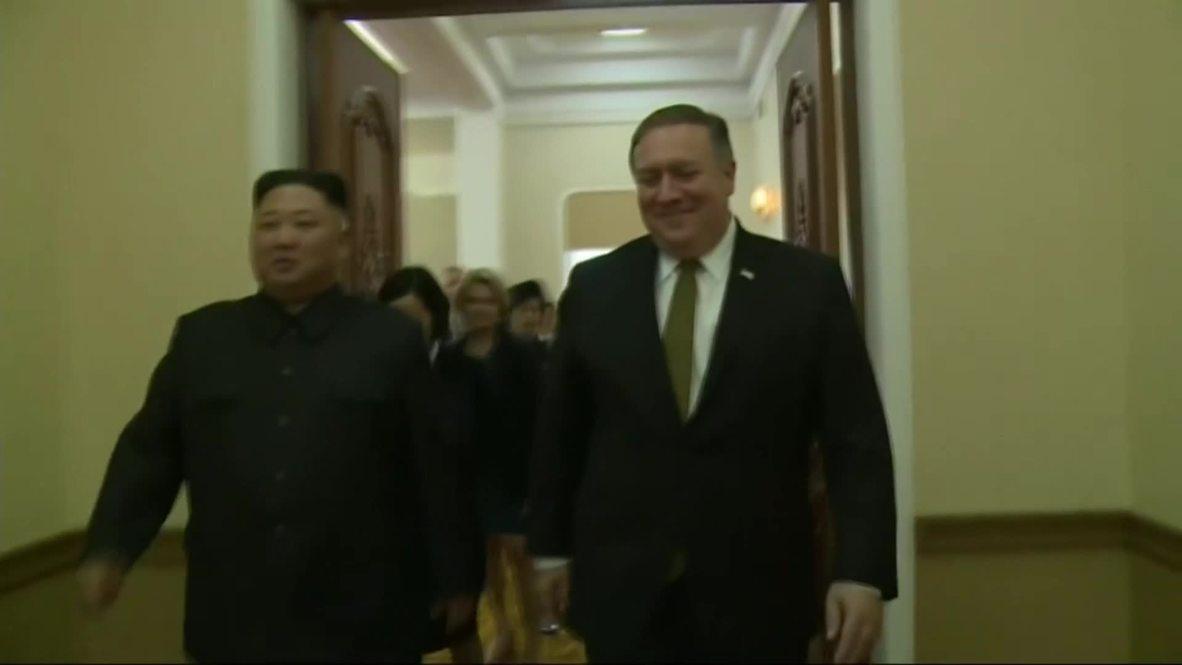North Korea: Pompeo meets Kim Jong-Un for denuclearisation talks