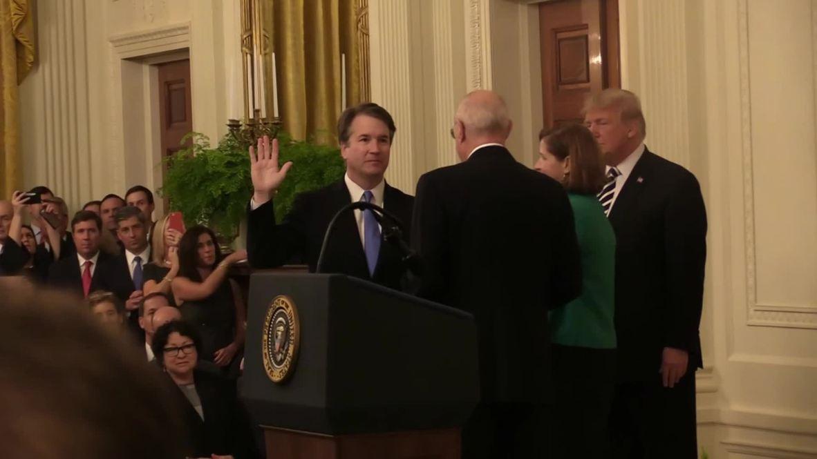 EE. UU.: Vea el momento en el que Kavanaugh asume el cargo de juez del Tribunal Supremo