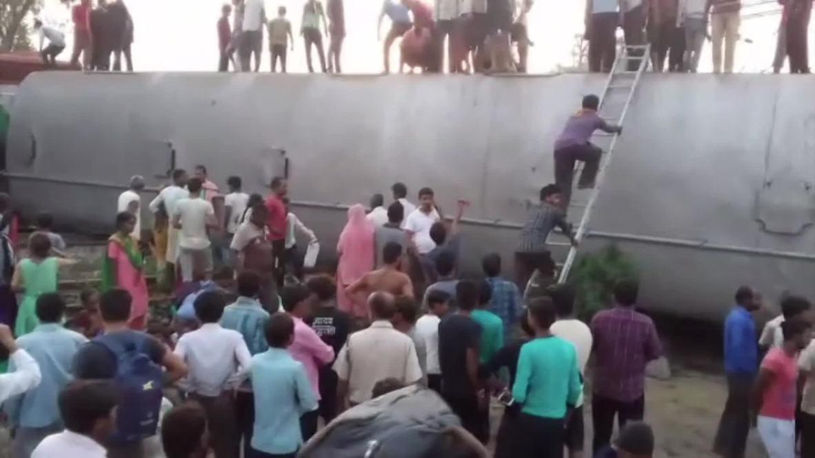 India: Al menos 7 muertos al descarrilar un tren en Uttar Pradesh *EXPLÍCITO*