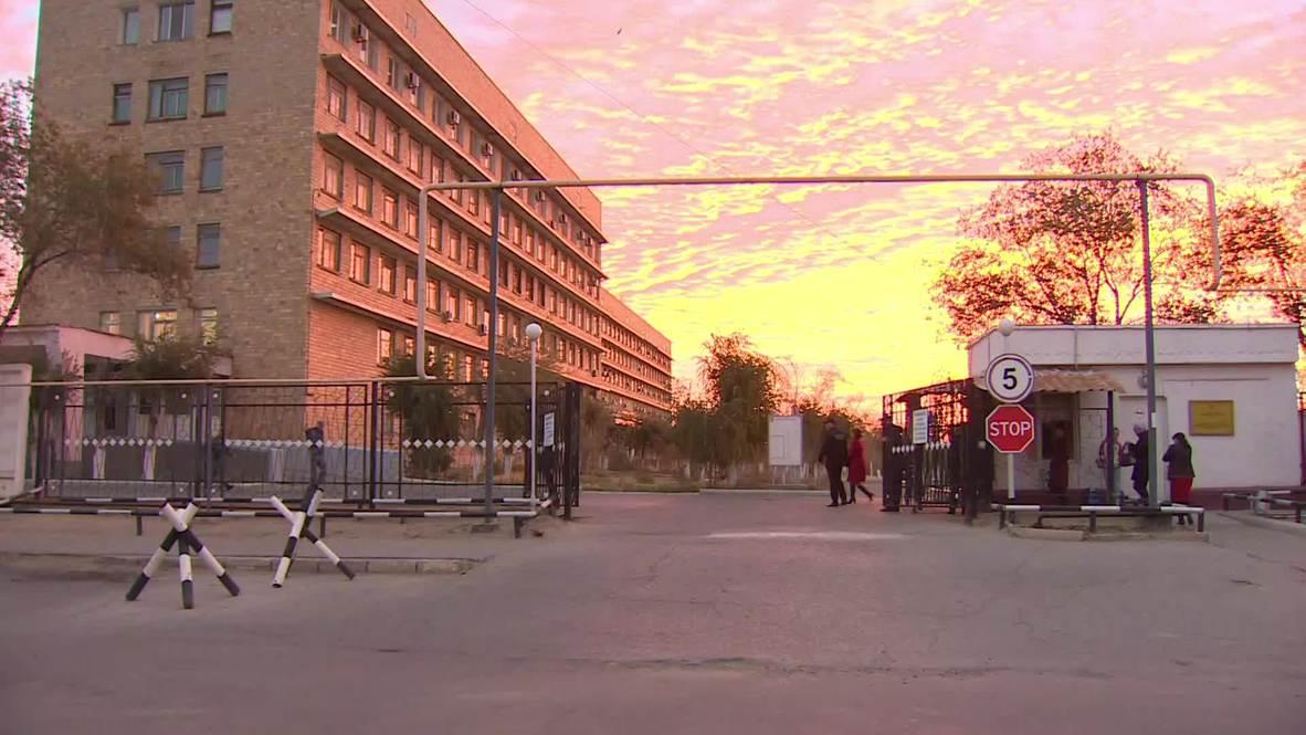 Kazakhstan: Cosmonauts leave hospital bound for Russia