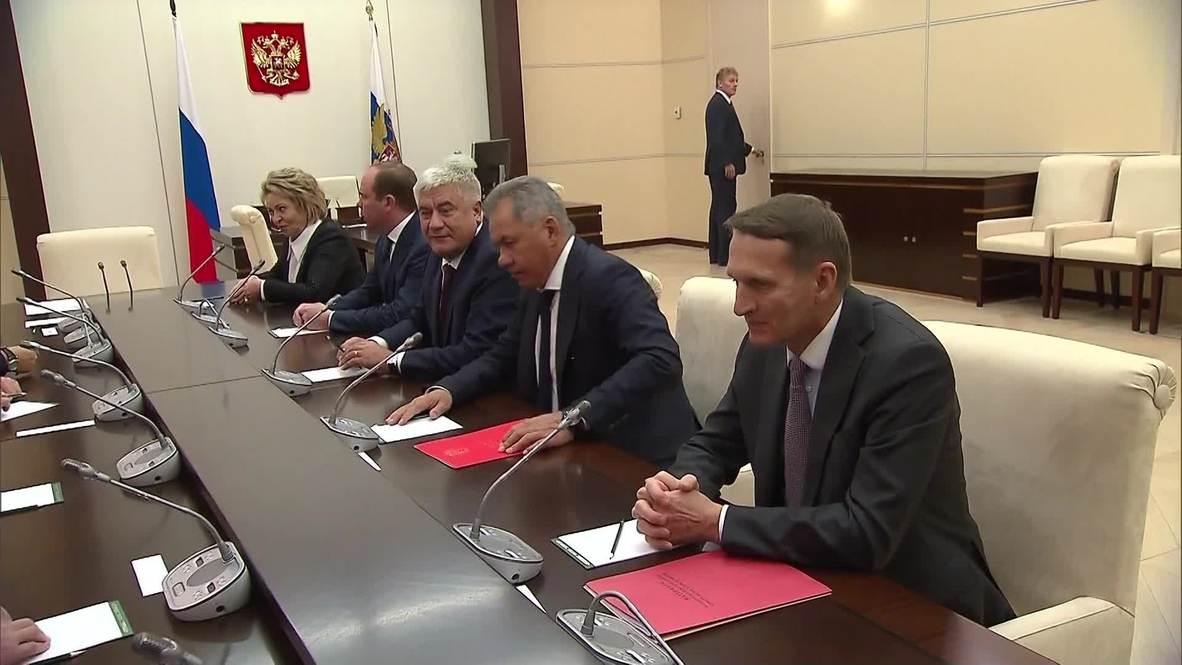 Russia: Putin chairs security council meeting over Ukrainian Orthodox Church breakaway