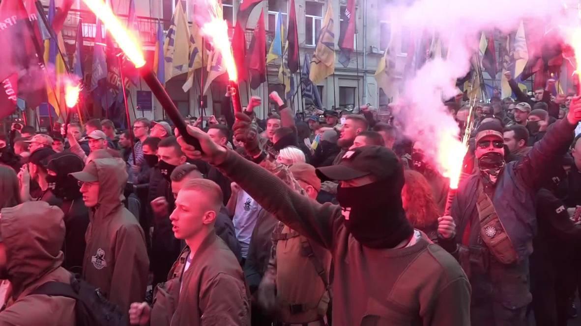 Ukraine: Thousands march on Kiev for far-right rally to 'return Ukraine'