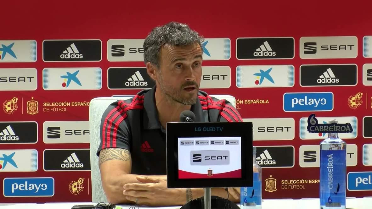 Spain: Coach Luis Enrique declares admiration for England's Southgate ahead of clash