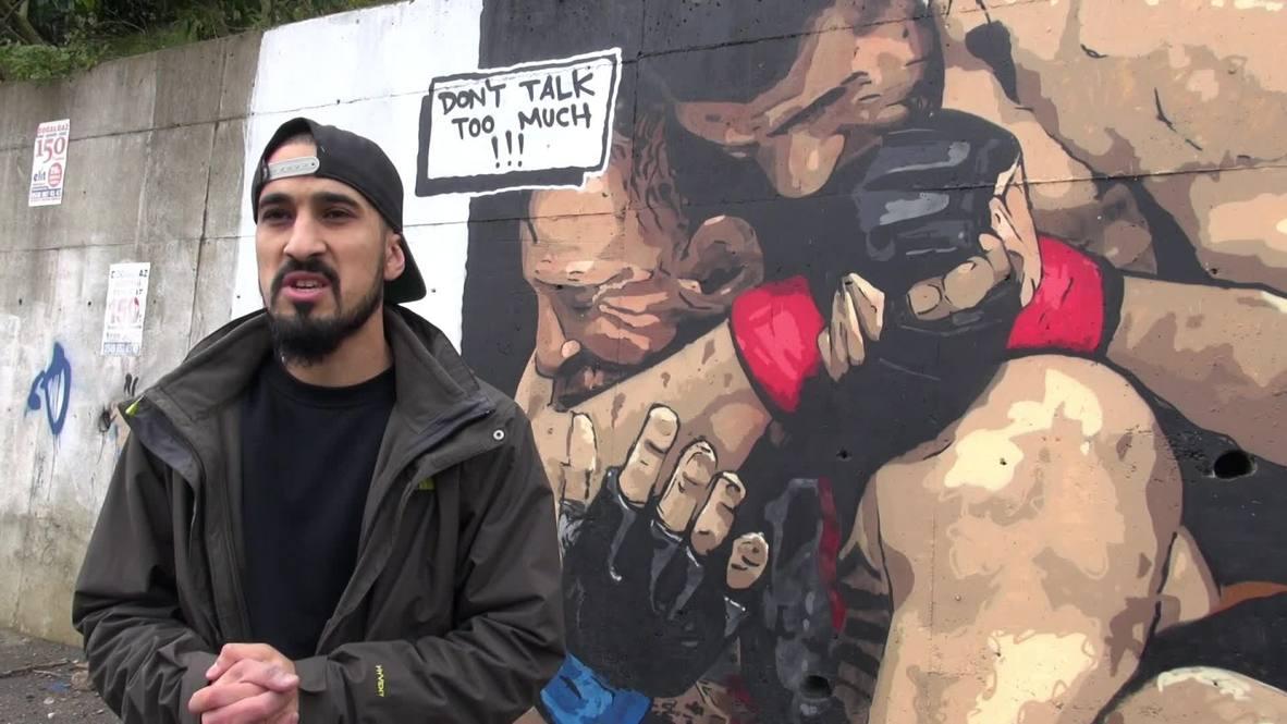 """Turquía: """"No hables demasiado"""" - Artista turco pinta la victoria de Khabib sobre McGregor"""