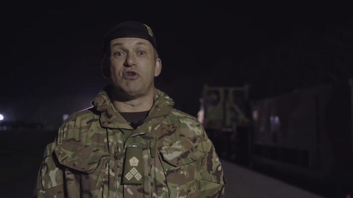 Sweden: British army convoy crosses Oresund Bridge from Denmark ahead of NATO's Trident Juncture drills
