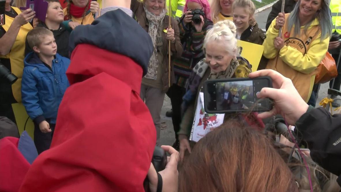 Reino Unido: Vivienne Westwood se une a la protesta contra el fracking en Lancashire