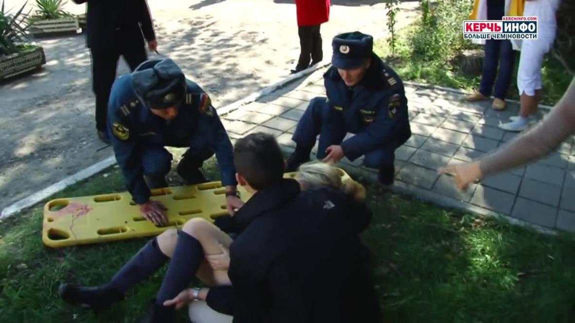 Rusia: Llevan a los heridos al hospital tras un ataque contra un centro de formación en Crimea