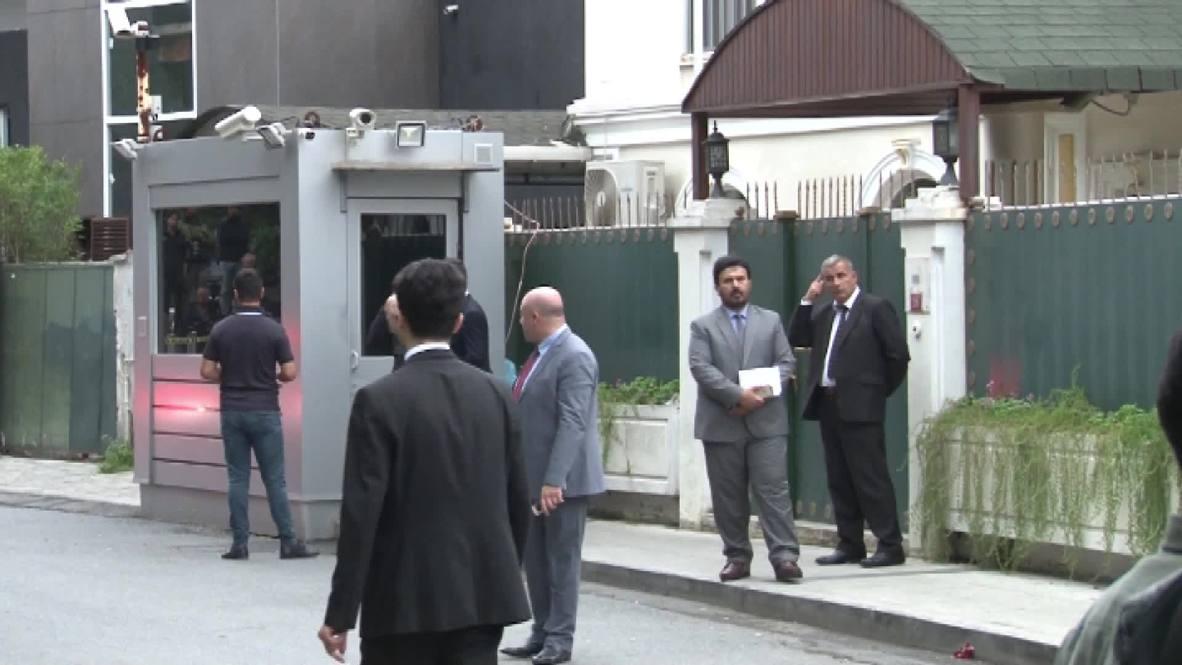Turkey: Saudi Arabia sends investigative team to consul's residence - reports