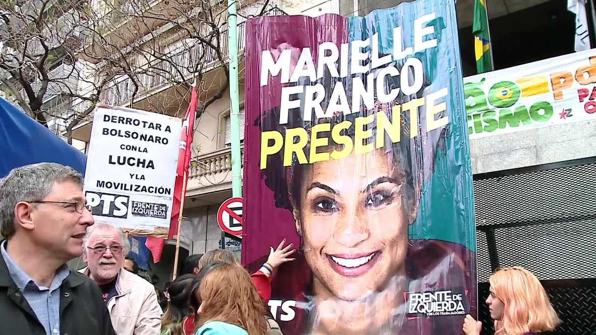 Argentina: Thousands protest against Bolsonaro at Brazilian embassy