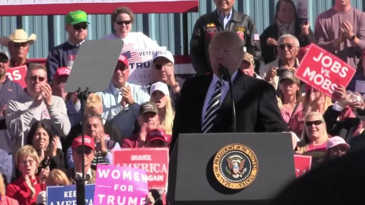 USA: Trump takes shots at Democrats and Joe Biden at Elko rally