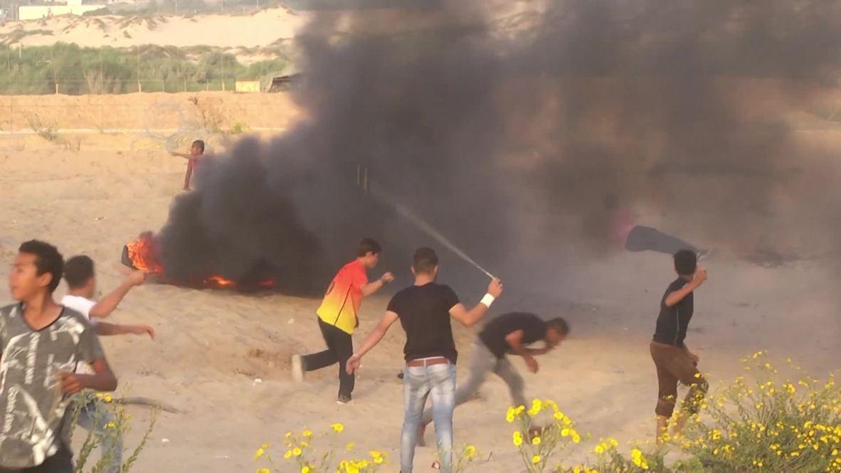 Palestina: Al menos 20 heridos en protesta contra el bloqueo naval israelí, según los médicos
