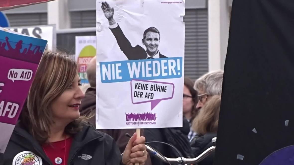 Alemania: Cientos de personas protestan contra la reunión de AfD cerca de Frankfurt