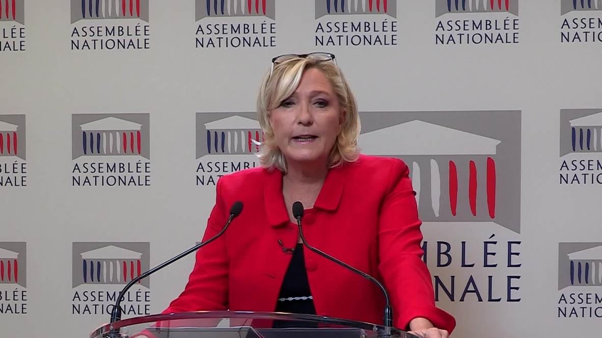 France: Le Pen calls for zero tolerance policy against school delinquency