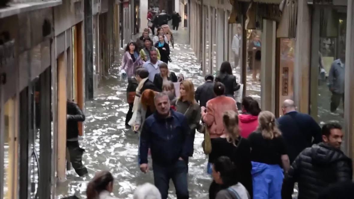 Italia: El 75% de Venecia bajo la peor inundación desde 2012