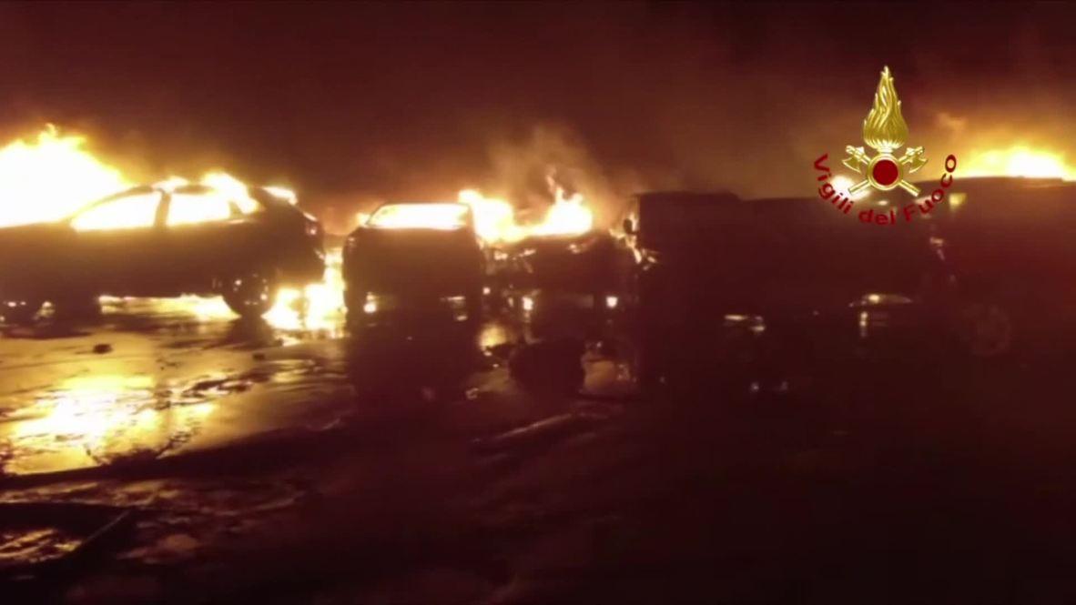 Italy: Hundreds of brand-new Maserati cars destroyed in blaze