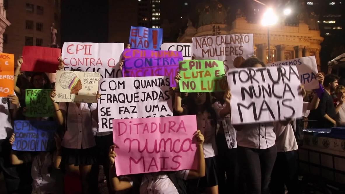 Brasil: Estudiantes toman las calles de Río para protestar contra Bolsonaro