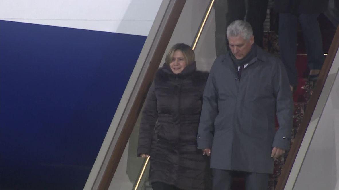 Rusia: El presidente cubano llega a Moscú en visita oficial