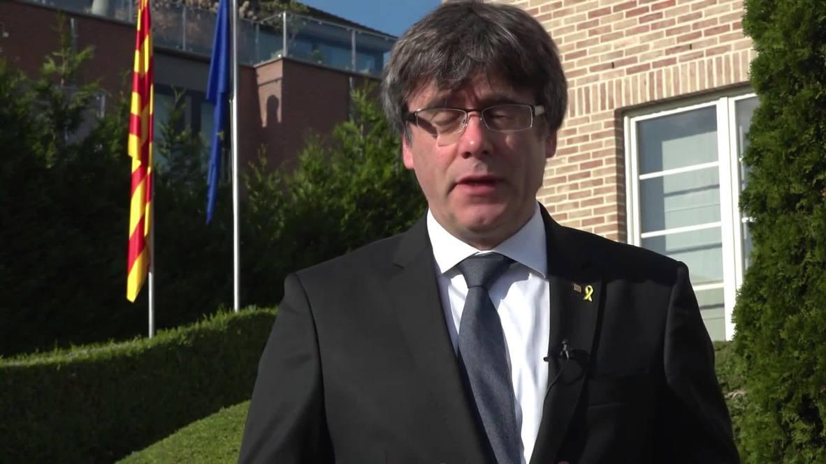 Bélgica: Puigdemont pide a Europa que detenga la persecución contra los líderes independentistas catalanes