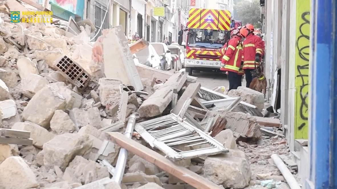 Francia: Dos heridos tras derrumbe de edificios en Marsella