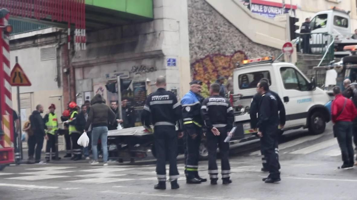 Francia: Rescatistas buscan sobrevivientes atrapados tras derrumbe en un edificio de Marsella