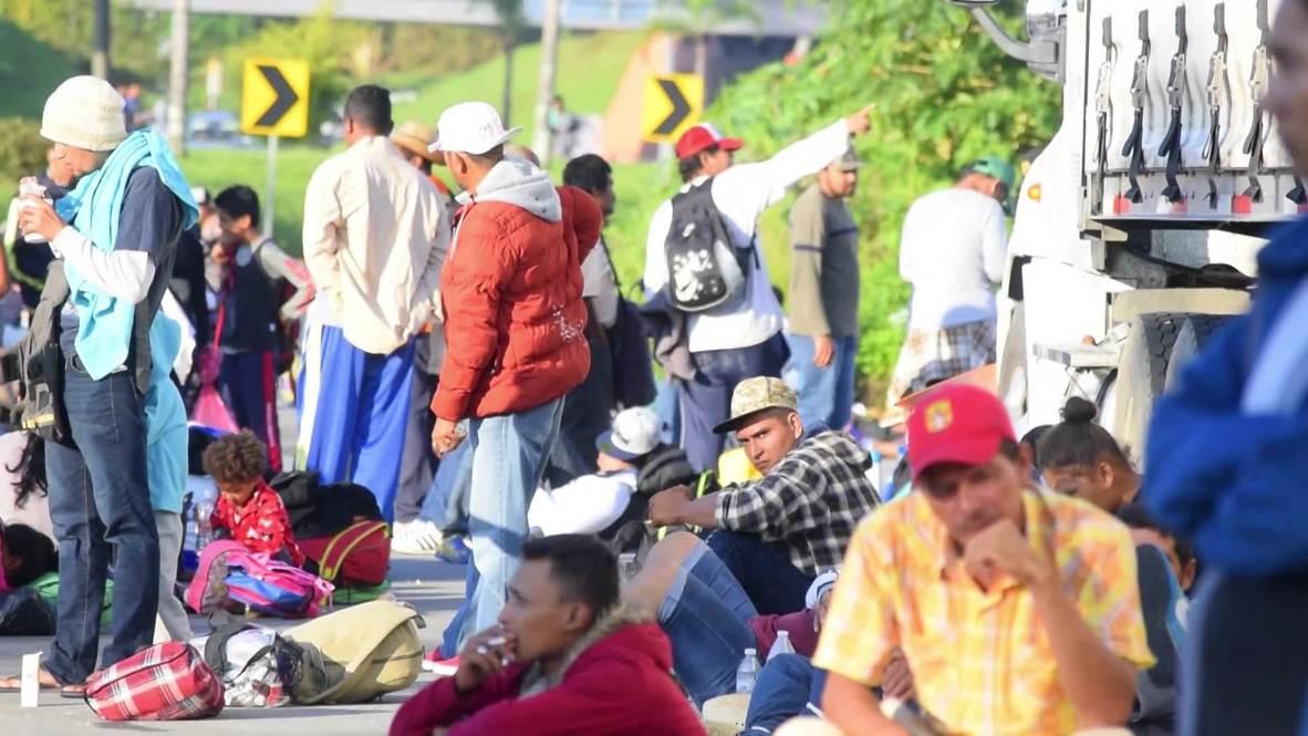 México: Caravana de migrantes centroamericanos rumbo a la ciudad de México