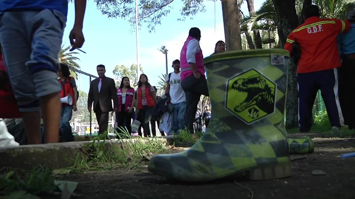 México: La caravana de migrantes recibe una cálida bienvenida en Ciudad de México