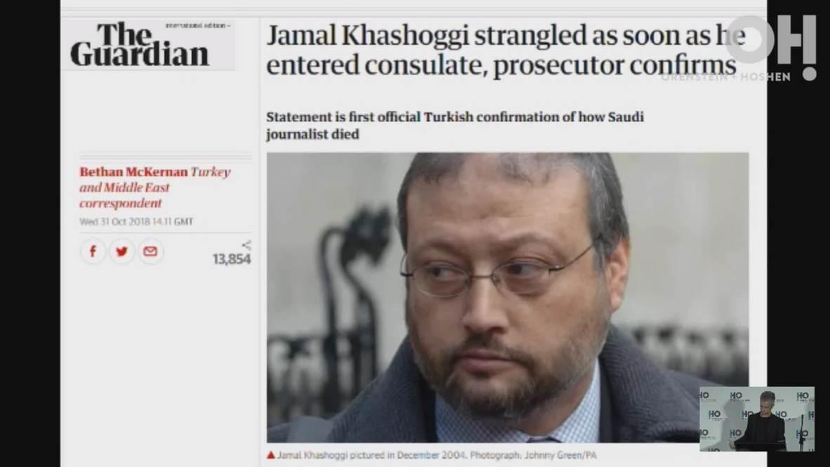 Israel: Snowden acusa a firma de ciberseguridad israelí de contribuir en el asesinato de Khashoggi
