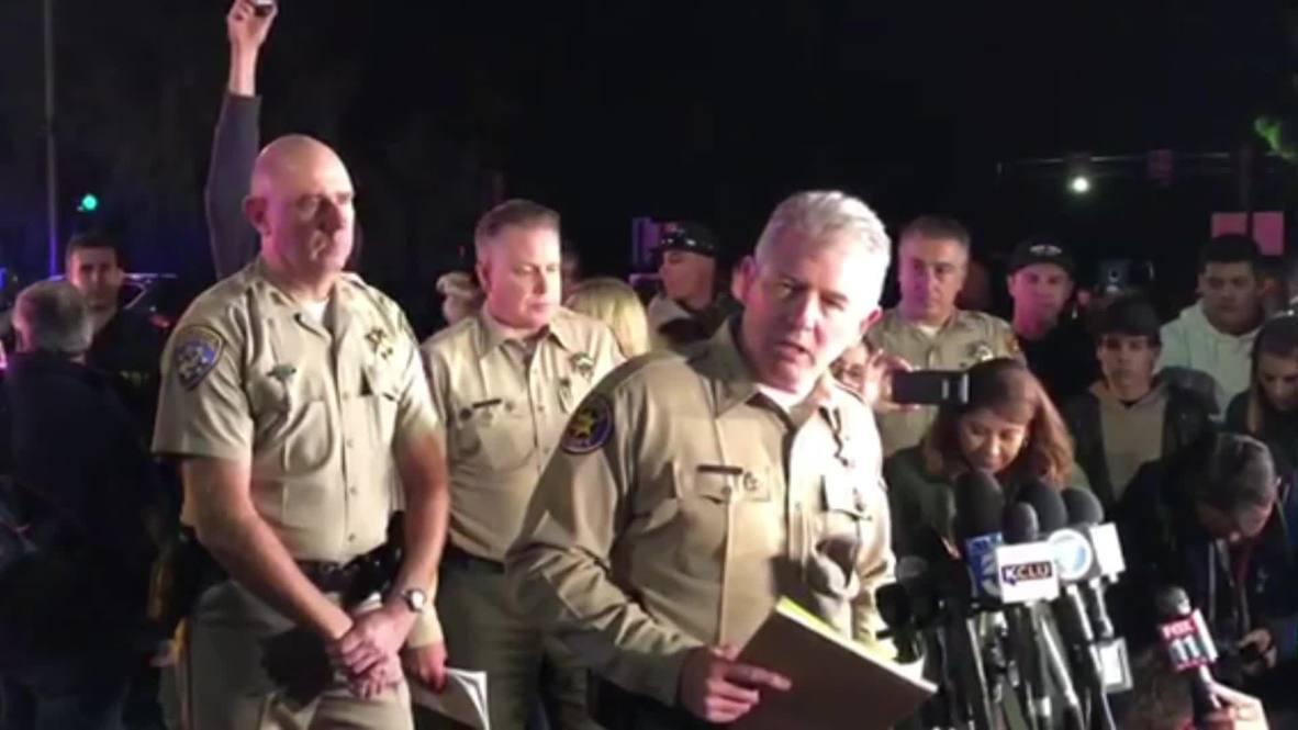 EE. UU.: El sheriff confirma 12 muertos en un tiroteo en un bar de California