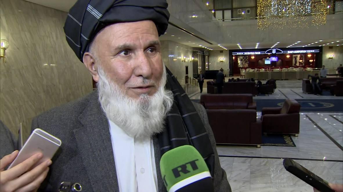 Rusia: Afganistán listo para hablar con los talibanes, según Din Mohammad del Alto Consejo para la Paz afgano