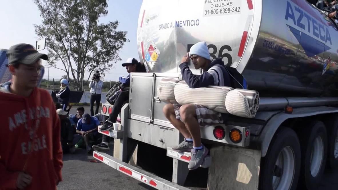 Mexico: Migrant caravan crosses into Guanajuato state