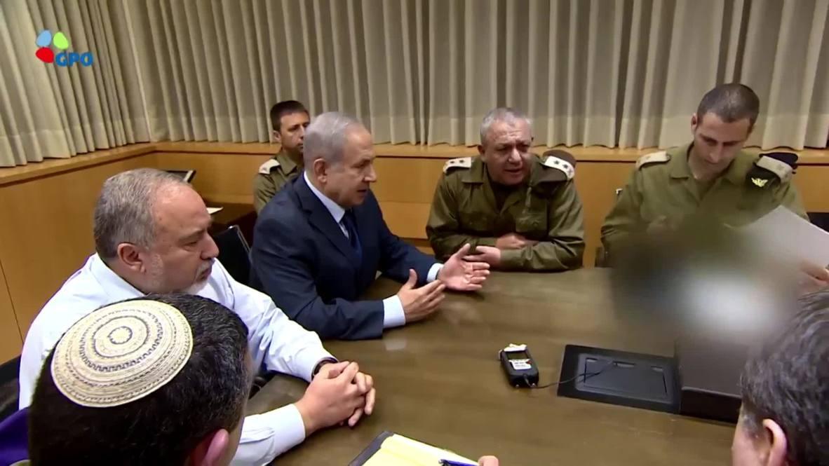Israel: Netanyahu se reúne con su gabinete de seguridad mientras aumenta la tensión en la Franja de Gaza