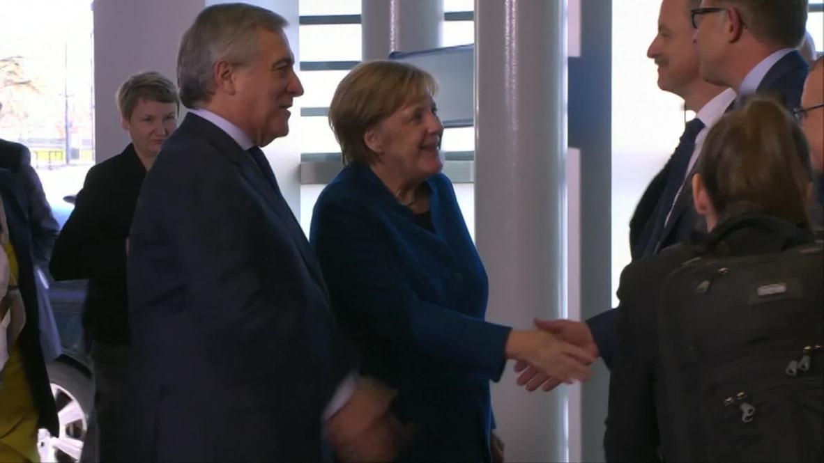 Francia: Merkel se reúne con el presidente del Parlamento Europeo en Estrasburgo