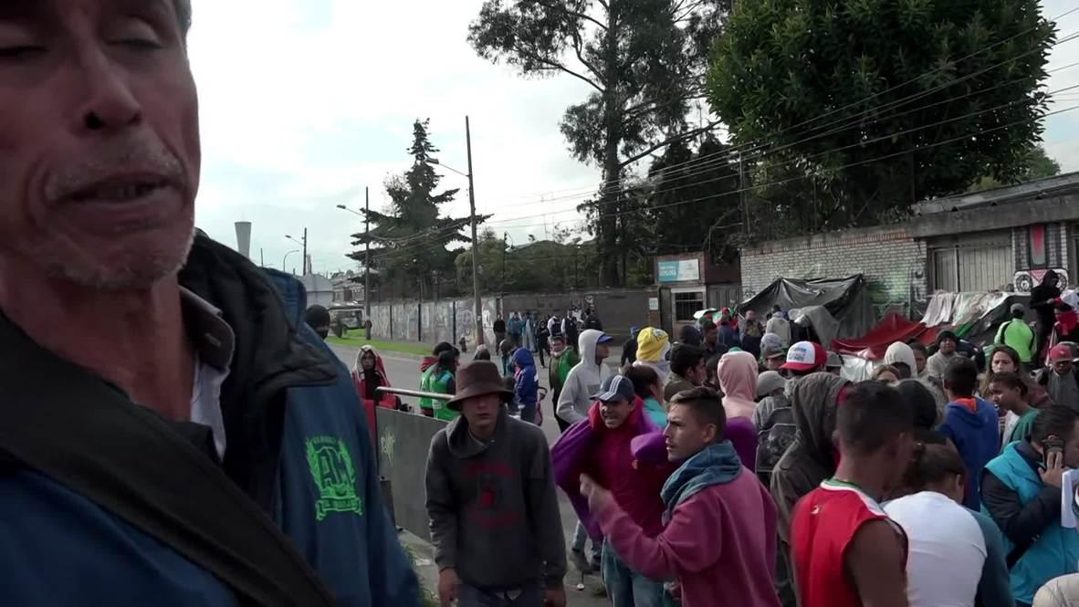 Colombia: Migrantes venezolanos en Bogotá son reubicados en otro campamento de la capital colombiana