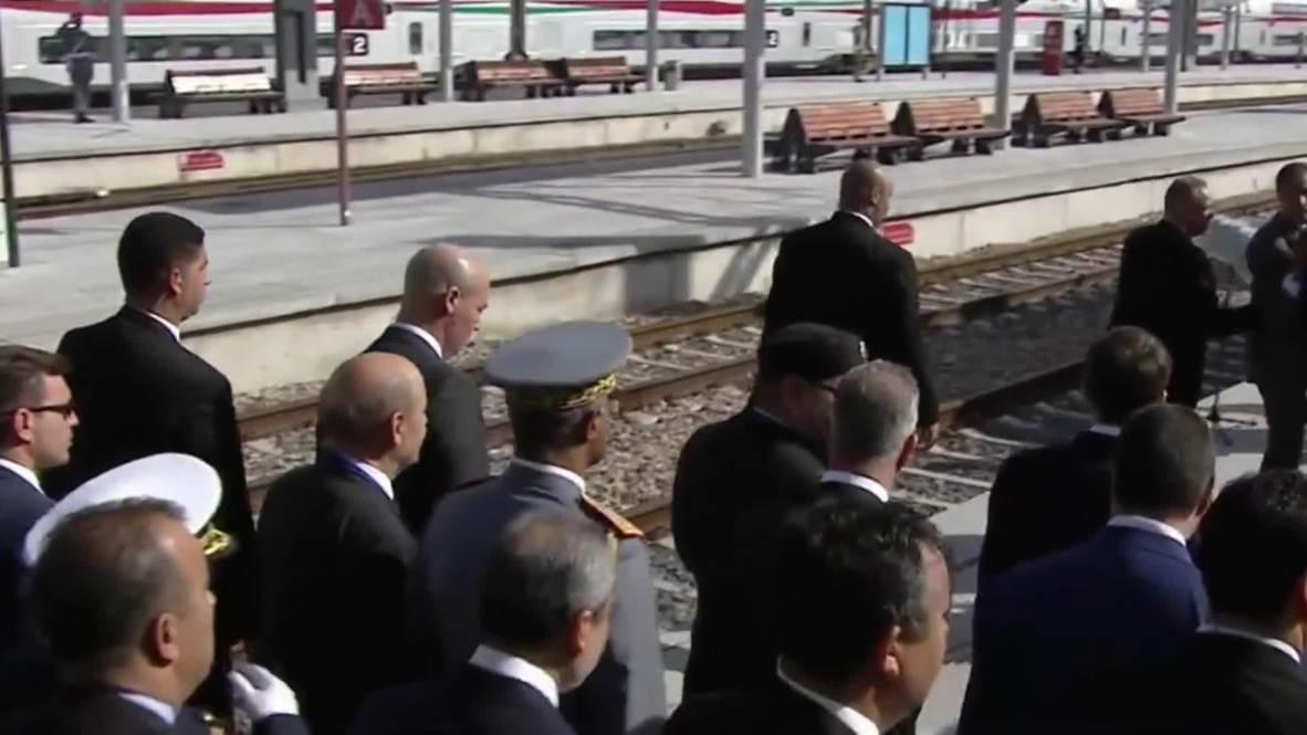 Marruecos: Macron y el rey de Marruecos estrenan el primer tren de alta velocidad en África