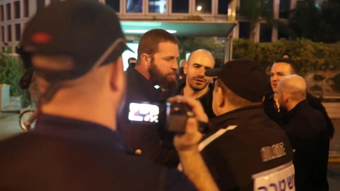 Israel: Cientos de personas protestan frente a las oficinas centrales del ejército israelí por el alto el fuego con Hamas