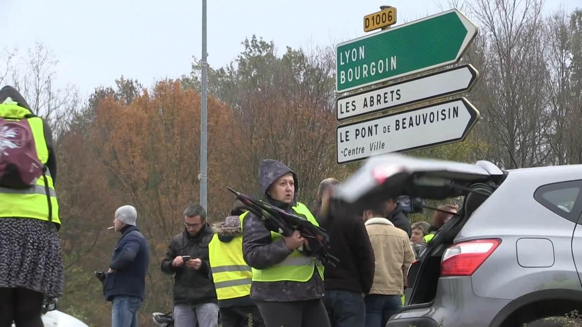 Francia: Un muerto y varios heridos durante las protestas en Saboya por el aumento de los precios del combustible