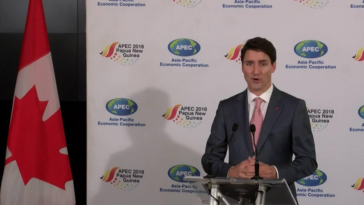 Papua New Guinea: Trudeau says dissent on trade halted APEC consensus