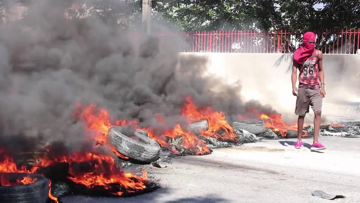 Haití: Enfrentamientos entre manifestantes y la policía en Puerto Príncipe